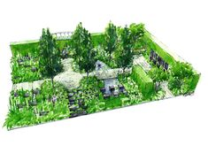 rhs chelsea flower show 2014 help for heroes garden design matthew keightley contractor - Garden Design Drawing