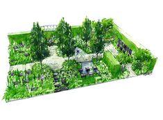 Garden Design Drawing garden design plan landscape design drawing Rhs Chelsea Flower Show 2014 Help For Heroes Garden Design Matthew Keightley Contractor
