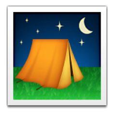 The Tent Emoji on iEmoji.com
