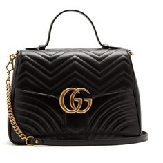 Gucci GG Marmont medium quilted-leather shoulder-bag ($2,790) ❤ liked on Polyvore featuring bags, handbags, shoulder bags, gucci, heart shaped purse, chevron print purse, shoulder hand bags and heart handbag