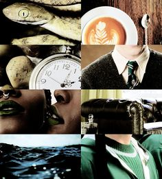 hp aesthetic: slytherin