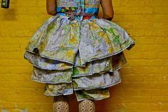 Map Dress Back Detail by Roswitha Gugliotta-Kremer