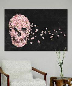 """I'd love to have this piece of artwork :) """"Terry Fan A Beautiful Death Landscape Gallery-Wrapped Canvas on Terry Fan, Gothic House, Home And Deco, Skull Art, Cool Art, Art Projects, Artsy, Artwork, Wrapped Canvas"""