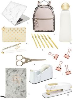 Unique Back to School Supplies in Marble & Gold – Opis Flores Camila Camila Unique Back to School Supplies in Marble & Gold – Opis Flores – Save Images Unique Back to School Supplies in Marble & Gold – Opis Middle School Supplies, School Kit, College School Supplies, Schul Survival Kits, Middle School Lockers, School Suplies, School Essentials, Backpack Essentials, Gold Marble