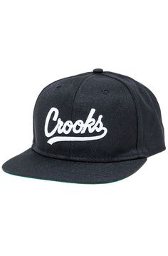 Crooks and Castles Hat The Crooks League Snapback Hat in Black - Karmaloop.com