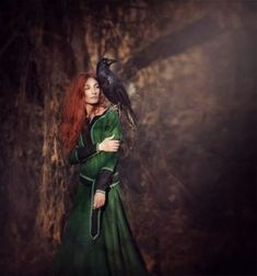 forest tale by whitecrow-soul Wicca, Pet Raven, Druid Symbols, Forest Elf, Dark Fairytale, Crows Ravens, Ravenna, Beautiful Creatures, Fairy Tales