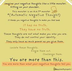 Handy (and cute) way to help teens gain strength to change their negative thoughts. They could take this reminder wherever they went!