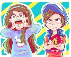 Gravity Falls - Dipper and Mabel Pines