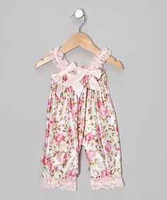 Pink Floral Bubble Romper - Infant & Toddler by Tutus by Tutu AND Lulu #zulily #zulilyfinds