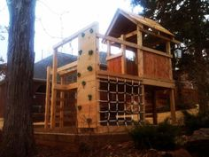 Rogers Family Playground - Natural State Treehouses #kids #backyard #playset #swingset