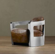 A real man's chair inspired by cars.The Sleek Atlantic Coupe Leather Chair