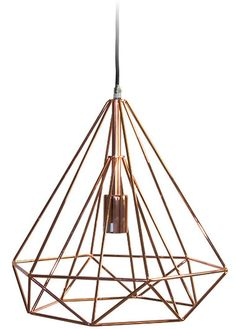 Wire Pendant - Copper, Pendants, Contemporary, New Zealand& Leading Online Lighting Store Retro Lighting, Industrial Lighting, Lighting Ideas, Online Lighting Stores, Stair Lighting, Wire Pendant, Hanging Lights, Spiral, Copper