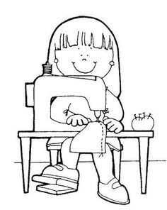 Dibujos para colorear de oficios para niños