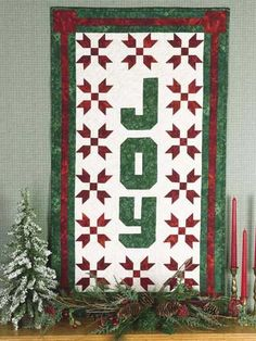 Quilting - Christmas Decorations & Wall Quilts - Sign of the Season Free Wall Quilt Pattern