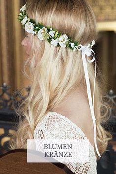 Blumenkranz Hochzeit Haarschmuck Braut Fleuriscoeur