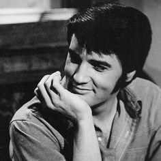 Elvis in the set of Change Of Habit (1969).