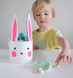 Easter Bunny DIY recycled basket by Mer Mag