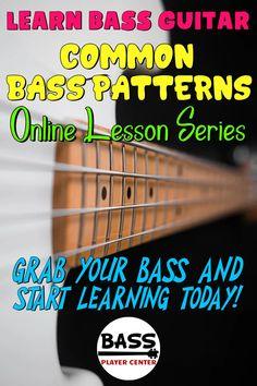 Bass Guitar Scales, Learn Bass Guitar, Guitar Chords For Songs, Bass Guitar Lessons, Guitar Lessons For Beginners, Music Lessons, Art Lessons, Guitar Patterns, Guitar Exercises