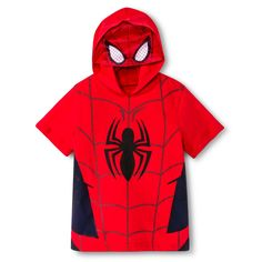Spider-Man Toddler Boys Mask Tee - Red Toddler Boy Outfits, Toddler Boys, Spiderman, Superhero, Hoodies, Tees, T Shirt, Jackets, Clothes