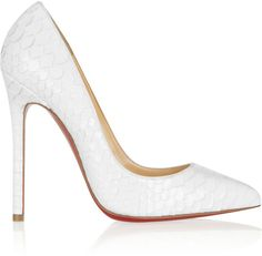 Christian Louboutin Pigalle 120 #glossed python #pumps on shopstyle.co.uk