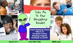 Learn more about PRO and help your struggling readers become POWERFUL readers who are out of this world! :) www.nrsi.com :)