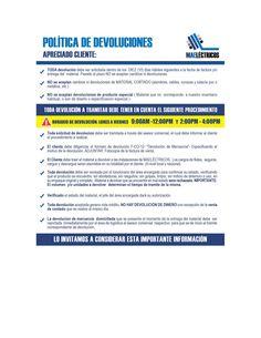 POLITICA DEVOLUCIONES MAE