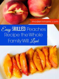 Easy Grilled Peaches Recipe from Walmart Mom Melanie