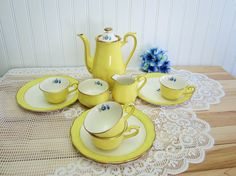 RARE Elegant 1950's Vintage Hall China Buttercup by EclecticGals