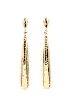 Jaqueline Crystal Teardrop Earrings on Emma Stine Limited