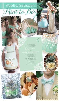 Mint Wedding Inspiration via Delphine