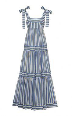 Zimmermann Verity Striped Cotton-Voile Maxi Dress Source by modaoperandi dresses design
