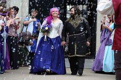 Joni & Jeremy's medieval handfasting and archery wedding