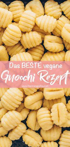 Yummy Veggie, Veggie Recipes, Whole Food Recipes, Veggie Meals, Vegan Gnocchi Recipe, Gnocchi Recipes, Vegan Foods, Vegan Vegetarian, Vegetarian Recipes