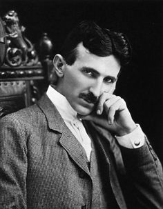 This is Nikola Tesla... the inventer of the Tesla coil, he used electricity in amazing ways.