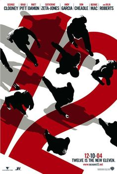 Ocean's 12 movie poster by Neville Brody. Never liked the film much but the poster is nice.
