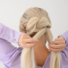 Easy Hairstyles For Long Hair, Wedding Hairstyles, Braids For Long Hair, Pretty Hairstyles, Summer Hairstyles, Updo Hairstyle, Bun Hairstyles, Braided Hairstyles Tutorials, Twisted Updo