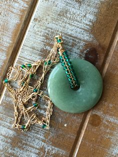 Donut bead Jade wire worked