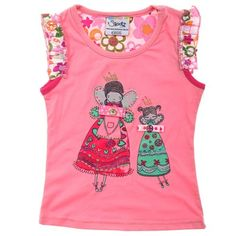Light Pink Full Colour Tee With Patterned Sleeve And Fairy Print-AJ57039-Light-Pink $13.00 on Ozsale.com.au