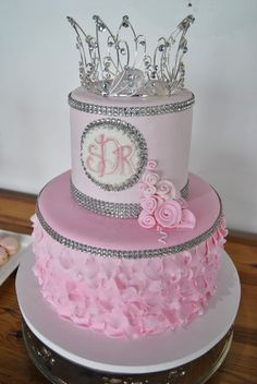 Siftedbakery.com Quinceanera cake    Quinceanera Party    For more party ideas visit: www.fireblossomcandle.com