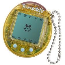 Tamagotchi: Oh my goodness, this is the exact one that I had. unfortunately, he died with his batteries.