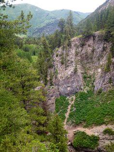 Donut falls trail (off the trail) hiking Big cottonwood canyon Salt Lake City Utah