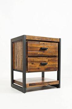 Industrial Lockers, Vintage Industrial Furniture, Reclaimed Furniture, Industrial Table, Metal Furniture, Pallet Furniture, Furniture Making, Jofran Furniture, Wooden Drawers