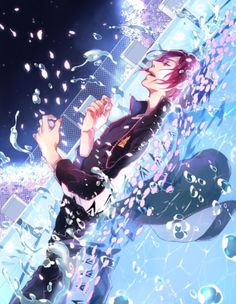 Free! ES ~~ He always wanted to swim in a pool of sakura petals. The boys of Iwatobi went out of their way to grant his wish, yet nature stymied their efforts. All the more reason to love this fanart!