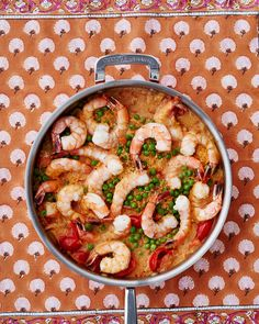 Coconut-Curry Shrimp and Couscous | Martha Stewart Living - You can find red curry paste, a blend of ginger, garlic, lemongrass, and chiles, in the international aisle of most grocery stores.