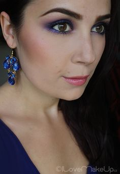 Beautiful Purple Smokey Eyes / www.ilovemakeup.cz/fialove-kourove-liceni-oci-s-essence-a-mua/#comment-7742