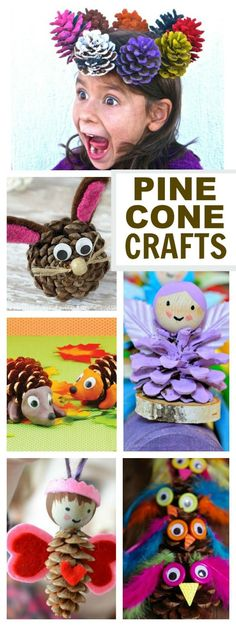 16 AWESOME KIDS CRAFTS USING PINE CONES.  Who knew there were so many neat ways…