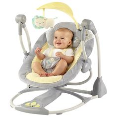 2768117615b Bright Starts InGenuity Smart and Quiet Portable Swing Baby Essentials