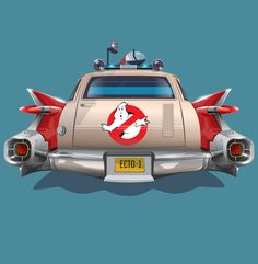 Ecto 1 in all it's glory. At least, that's what I think of when I see this amazing image from Dmitry Novitskiy. Back to the Future meets Ghostbusters. This is one of the best movie cars of all time. The Real Ghostbusters, Ghostbusters Poster, Movie Teaser, Ghost Busters, 90s Cartoons, Arte Horror, Cartoon Pics, Cultura Pop, Good Movies