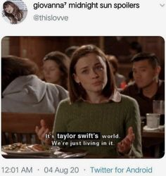 Taylor Swift Tumblr, Taylor Swift Funny, Taylor Swift Quotes, Taylor Swift Pictures, Taylor Alison Swift, Live Taylor, Red Taylor, Gilmore Girls Meme, Katy Perry