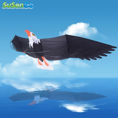 3D Eagle Kites Outdoor Fun Sports Desert Eagle Birds Albatross Surfing Kite Toy Power With Handle & 42m Line Easy Control Flying